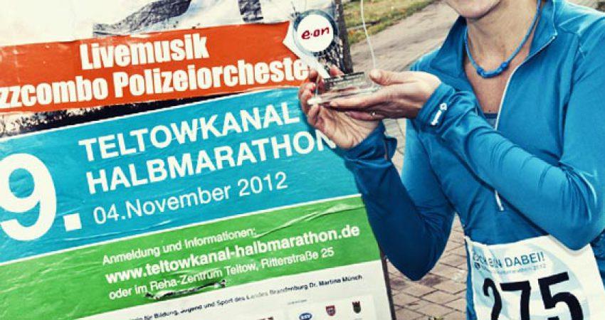Mein erster Pokal für 7,1km beim 9. Teltowkanal Halbmarathon
