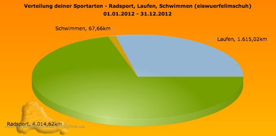Jahr 2012 Auswertung Training Sportics Kilometer