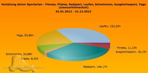 Jahr 2012 Auswertung Training Sportics