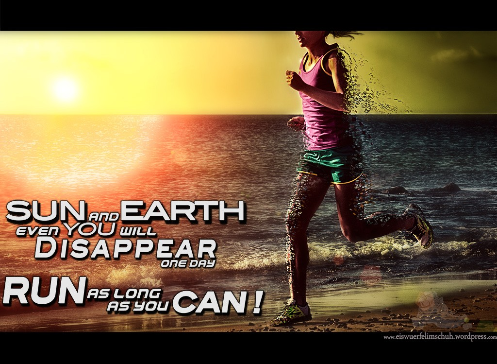 Motivation Running Run Fun Happy Sun Ocean Water Beach