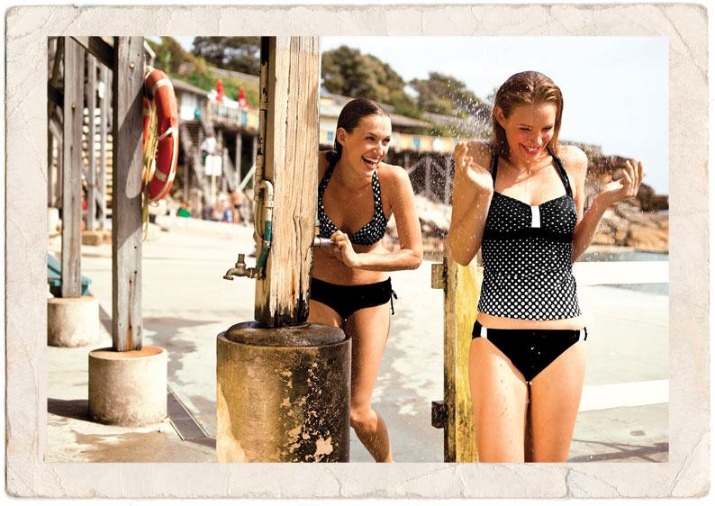 Zoggs-Beach-Strand-Baden-Schwimmen-Tankini-Bikini