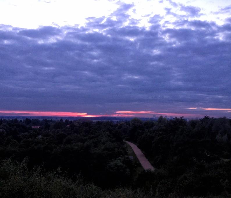 Sonnenaufgang-Eiswuerfelimschuh