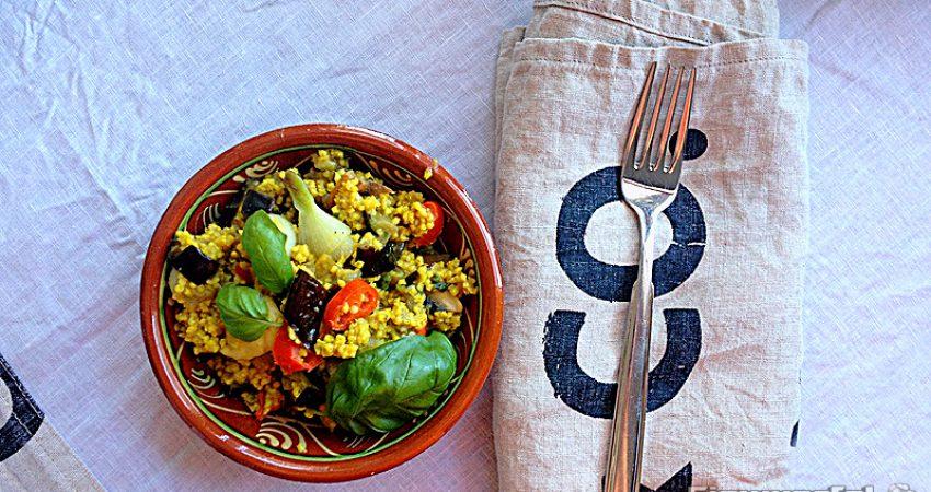 Pikante Ideen für Hirse Salat (veganes Rezept)