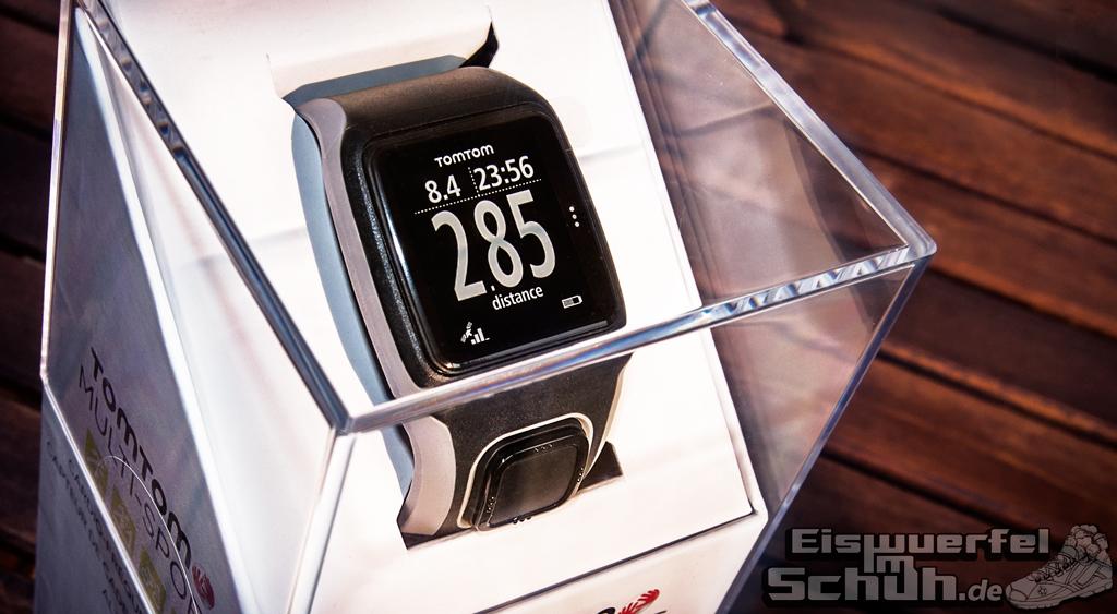 Eiswuerfelimschuh TomTom Multi-Sport GPS-Uhr Laufen Schwimmen Radfahren Puls Herzfrequenz Gurt Heartrate Watch (7)