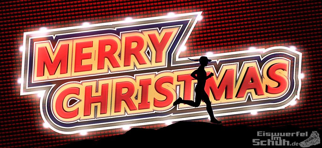 EISWUERFELIMSCHUH - Merry Christmas Froehliche Weihnachten Lauf Sport Blog