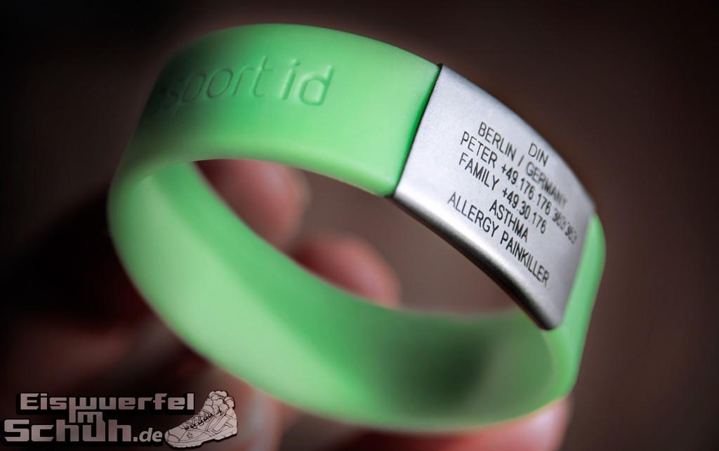SafeSportID Armband SOS Sport Hilfe Eiswuerfelimschuh Allergie