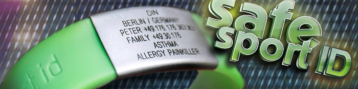SafeSportID Armband SOS Sport Hilfe Eiswuerfelimschuh