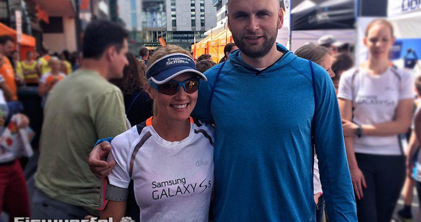 Frankfurter SportScheck Stadtlauf: Von einem Olympiasieger gezogen werden