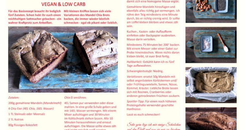 Saftig & lecker: Low Carb Mandel Chia Brot (vegan & glutenfrei)