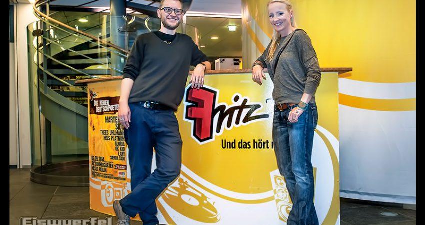 Eiswuerfel Im Schuh bei Radio Fritz im Interview