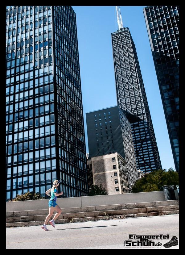 EISWUERFELIMSCHUH - IN CHICAGO - Marathon Laufen Architektur sightseeing Hancock