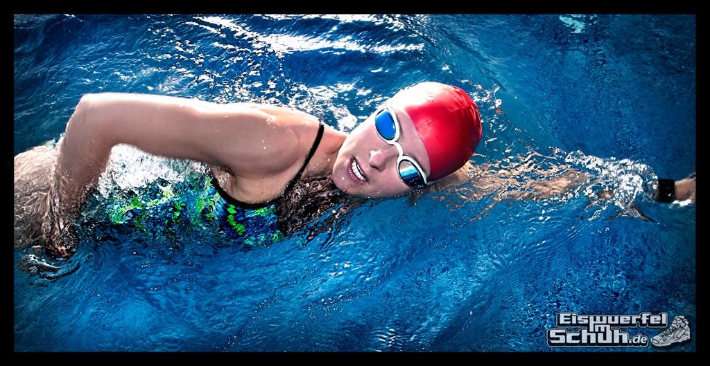 Erste Schwimmübungen in diesem Jahr