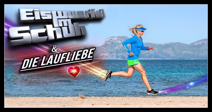 Laufblogger beim Lauftraining am Strand Collage