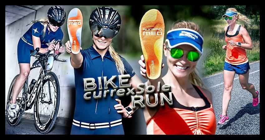Mehr Komfort für Triathleten, Läufer & Radsportler mit Currex Einlegesohlen