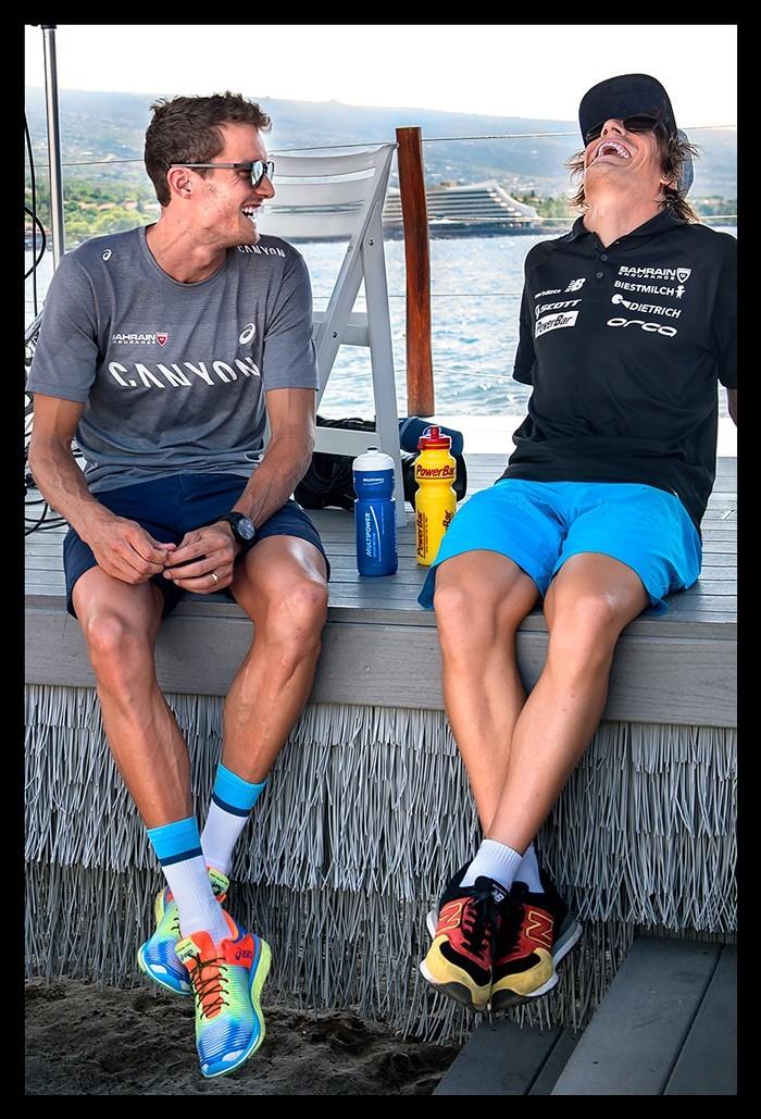 Jan Frodeno und Sebastian Kienle bei der Ironman World Championship