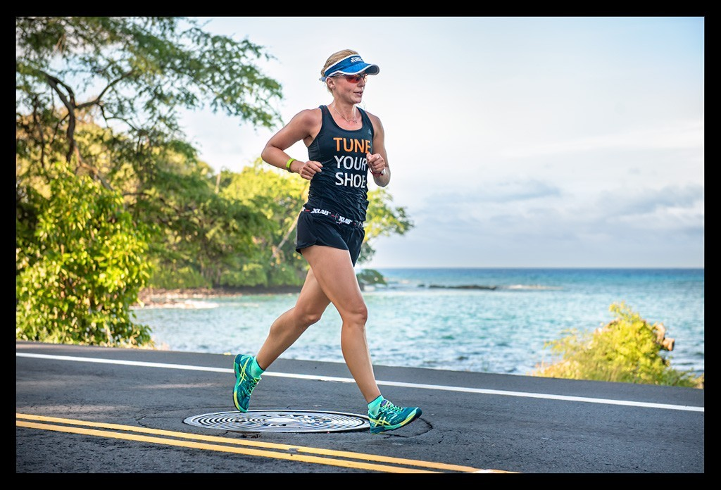 Läuferin beim Hawaii - Big Island 10k Path Run