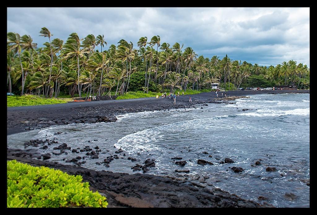 Hawaii Big Island Black Sand Beach Reisebericht