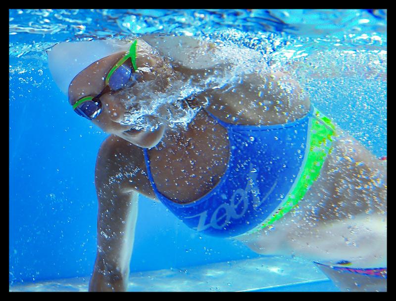 Triathlon Schwimmtraining Unterwasseraufnahme
