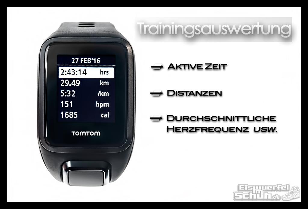 EISWUERFELIMSCHUH - TomTom Spark Cardio Multisport Laufen Fitnesstracker Herzfrequenz GPS Test Review (20)