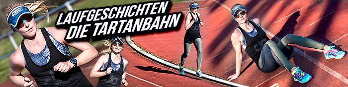 EISWUERFELIMSCHUH - Laufgeschichte Die Tartanbahn Laufen Training Triathlon Sportmode Banner Header