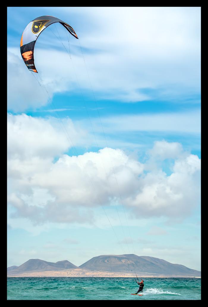 Kite Surfen auf Lanzarote