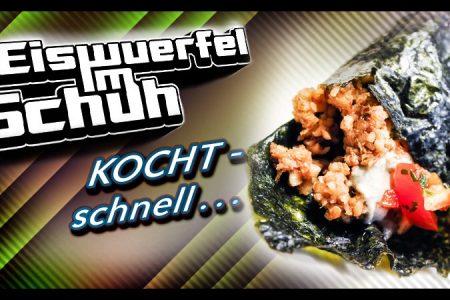 Eiswuerfel Im Schuh kocht schnell: Avocado Walnuss Paprika Wraps (vegan)