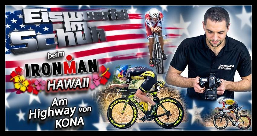 Ironman Hawaii Banner Radstrecke Collage