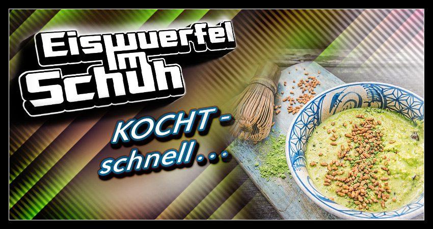 Eiswuerfel Im Schuh kocht schnell: Matcha Genmai Porridge (vegan & zuckerfrei)
