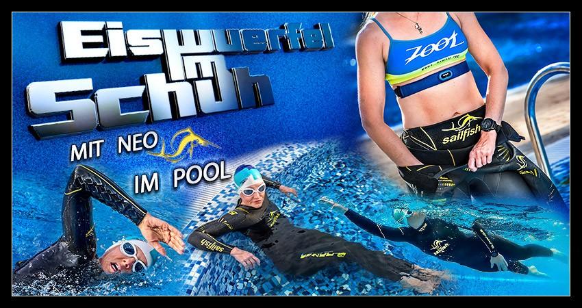 Schwimmgeschichten: Ab mit Neoprenanzug in den Pool - dieses Jahr so ins Freiwassertraining gestartet