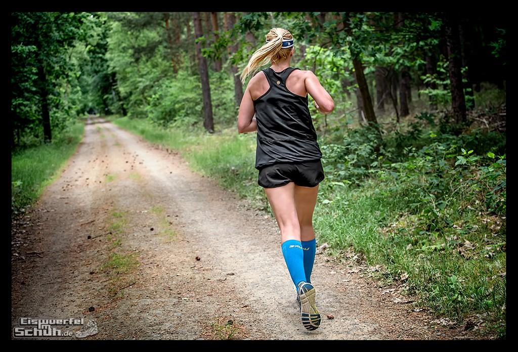 Training im Sommer bei Hitze Sport Laufen Schatten