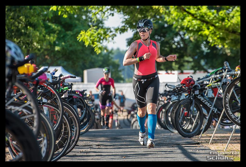 Ironman Frankfurt Wechselzone Langener Waldsee Radstrecke
