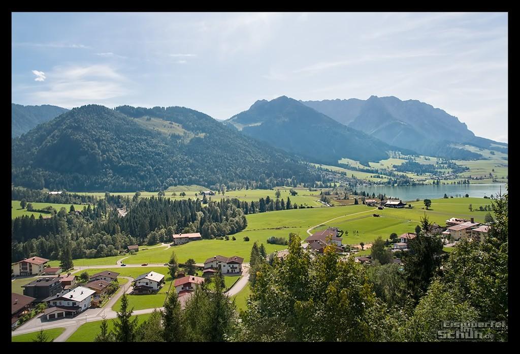 Radsporturlaub im Kaiserwinkl Reisebericht mit Panoramablick über Walchsee
