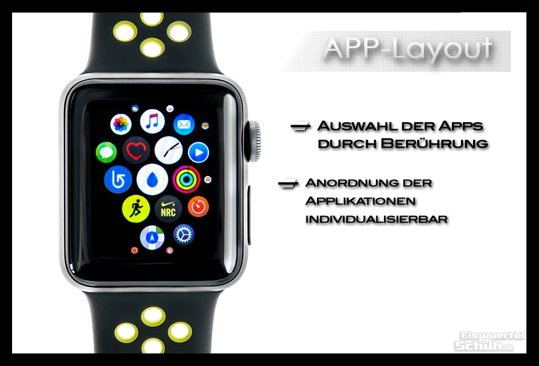 Apple Watch Series 2 Nike+ Applikationen anordnen