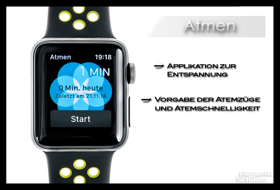 Apple Watch Series 2 Nike+ Atmen App