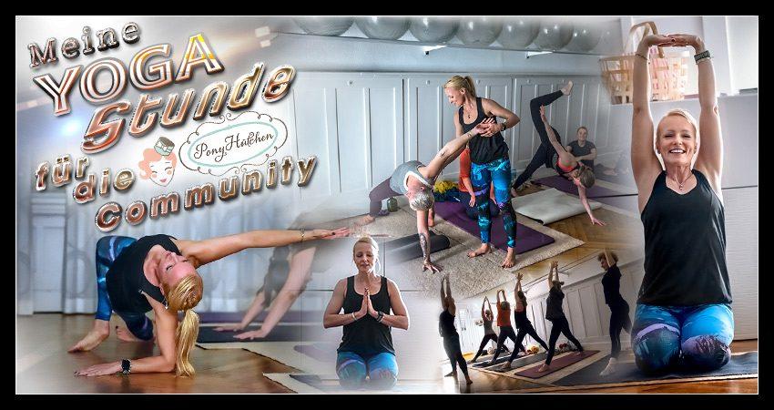 Meine Yogastunde für das 1. PonyHütchenCommunity Event