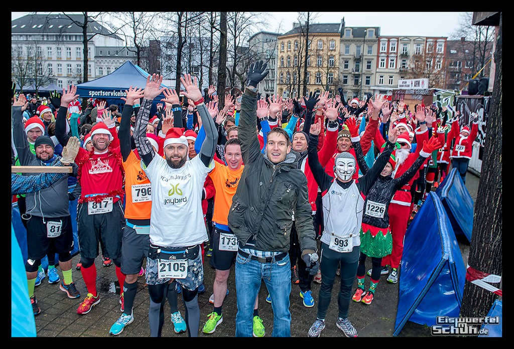 St Pauli X-Mass-Run Läufer in Hamburg