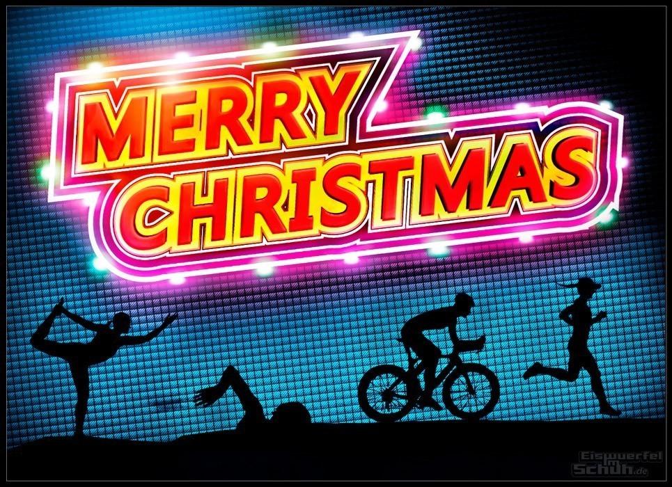 Triathlon Yoga Blog Grafik EISWUERFLIMSCHUH Team Frohe Weihnachten