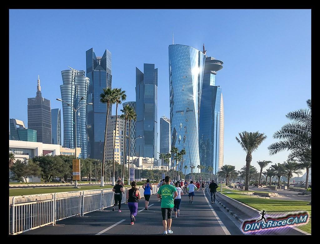 Doha Marathon Skyline Läufer Runner