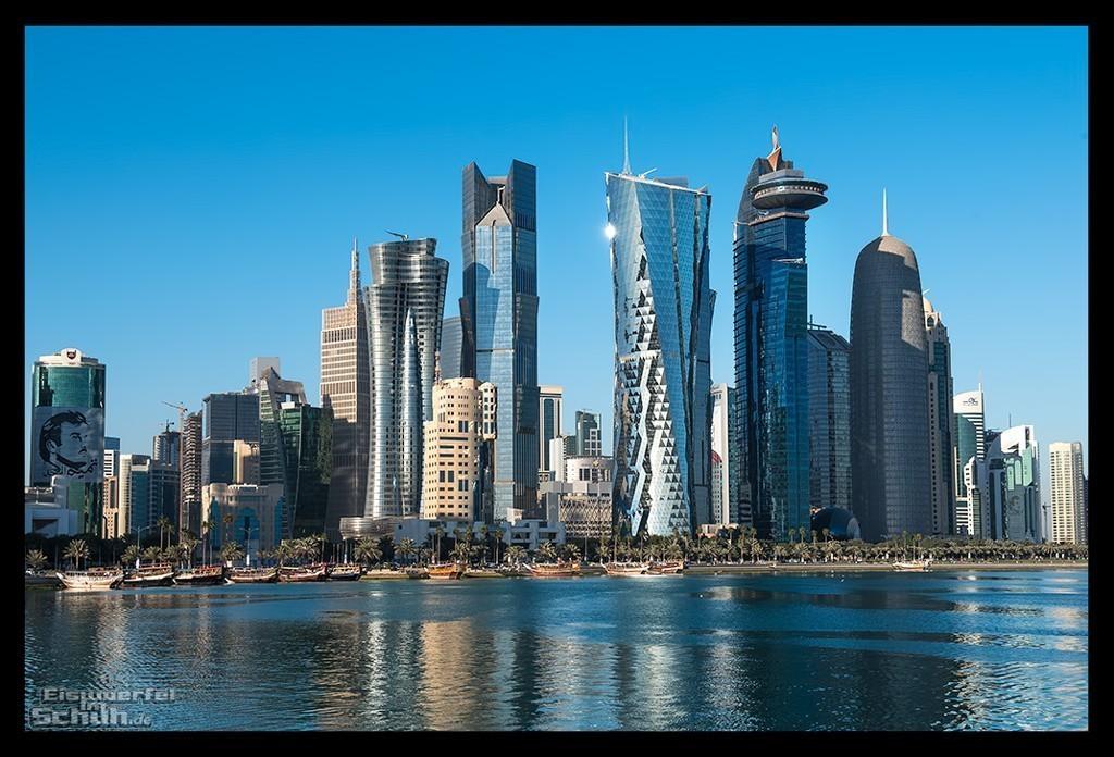 Doha Skyline vom Persischen Gold aus