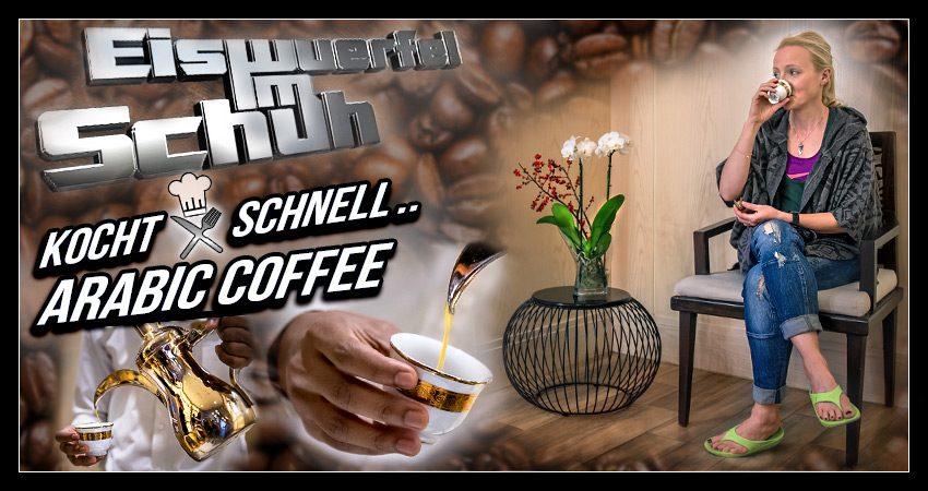 Eiswuerfel Im Schuh kocht schnell: Qahwa – Goldener Arabischer Kaffee
