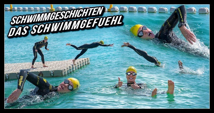 Schwimmtraining Triathlon Training Collage Header EISWUERFELIMSCHUH