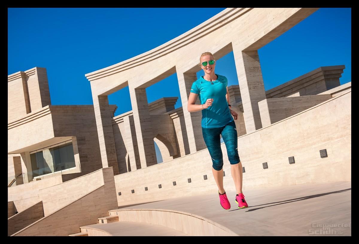 Laufen im Doha Stadtviertel Katara Qatar