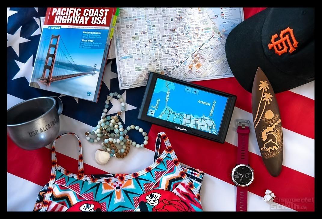 San Francisco Reise Blog Flatlay Reiseführer Navi Stadtplan