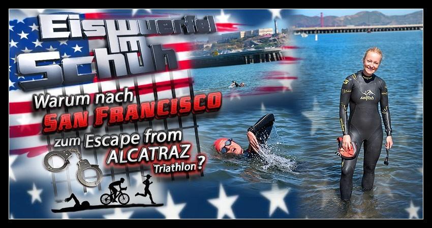 Escape from Alcatraz Triathlon Training Schwimmen Blog Collage