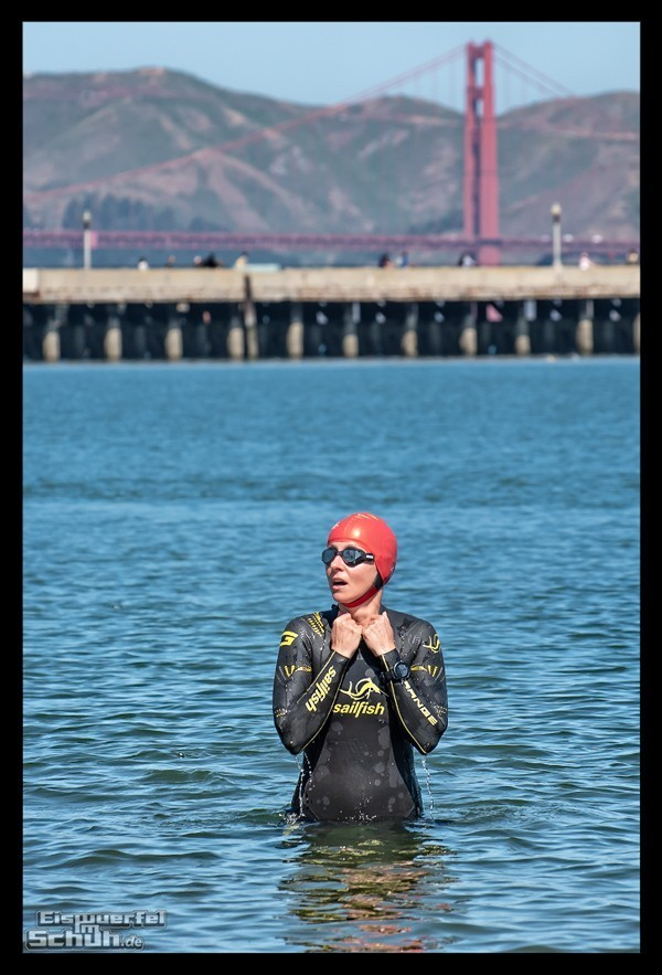 San Francisco Triathlon Schwimmtraining Golden Gate Bridge