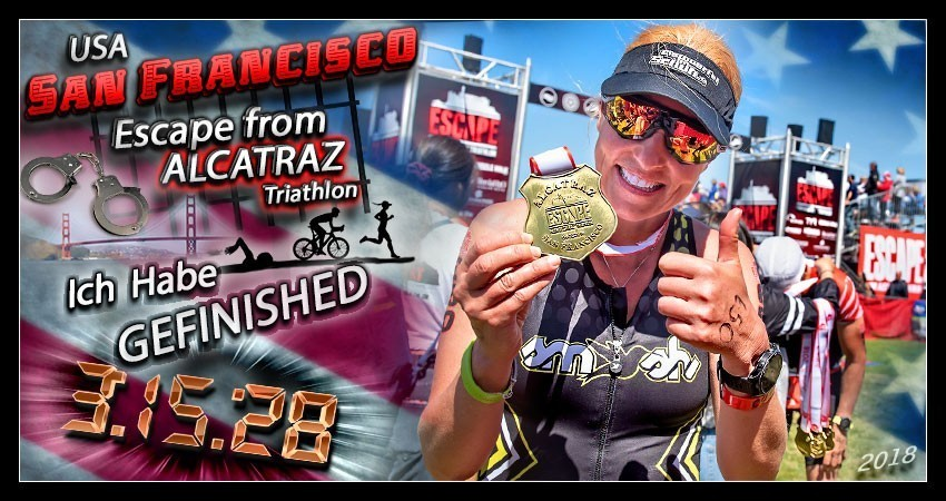 Escape From Alcatraz Triathlon Finish Collage