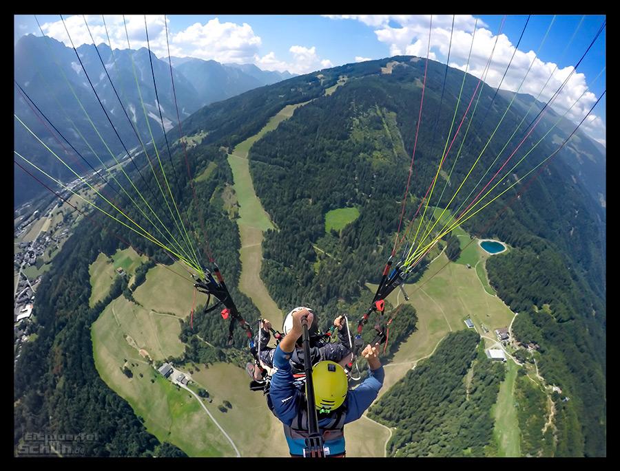 Dolomitenmann Strecken-Check Paragleiten Lienz von oben mit der GoPro