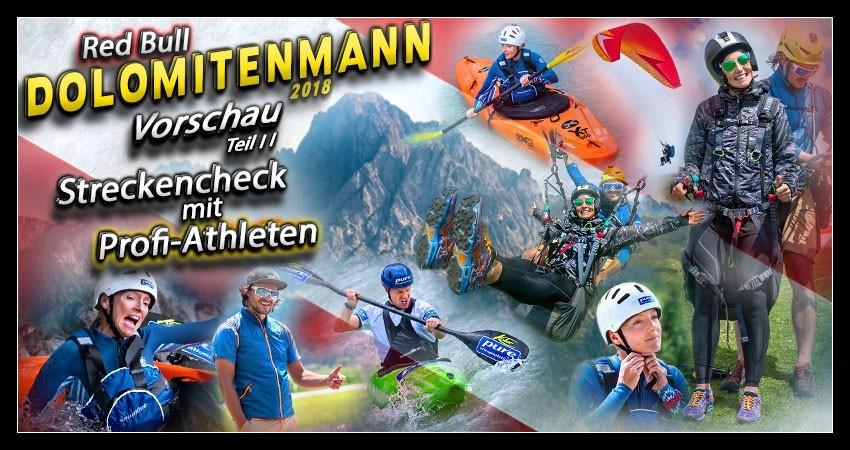 Dolomitenmann Strecken-Check Paragleiten und Wildwasserkajak in Lienz Collage