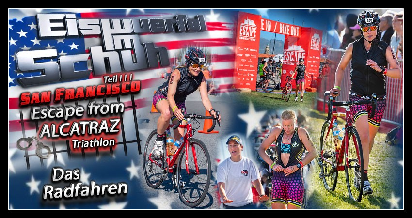 Die Radstrecke des Escape from Alcatraz Triathlon Banner