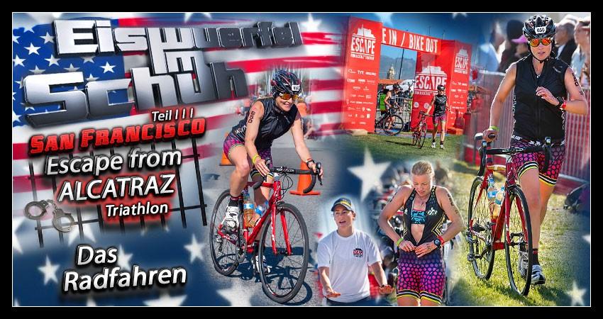 Die Radstrecke des Escape from Alcatraz Triathlon Banner